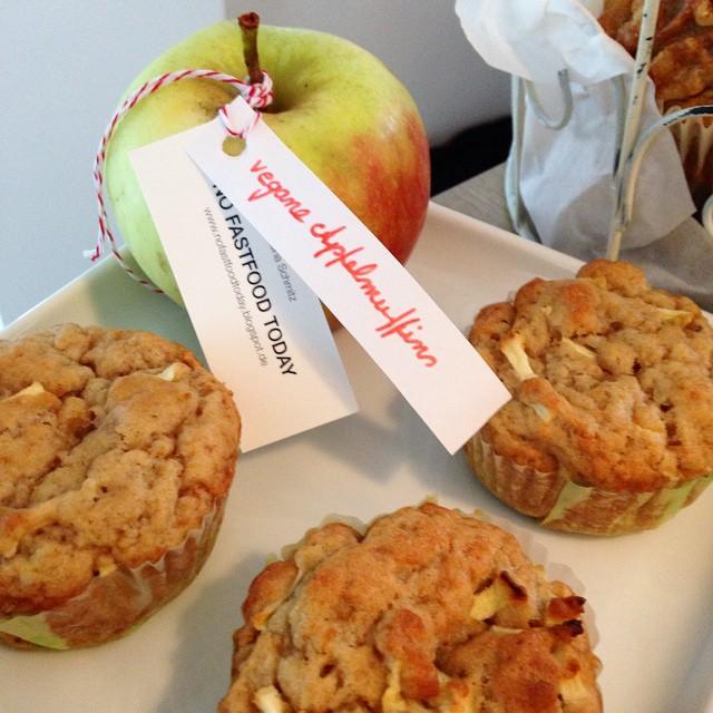Vegane Apfelmuffins von @nofastfoodtoday #food14 #foodcamp #foodblogger